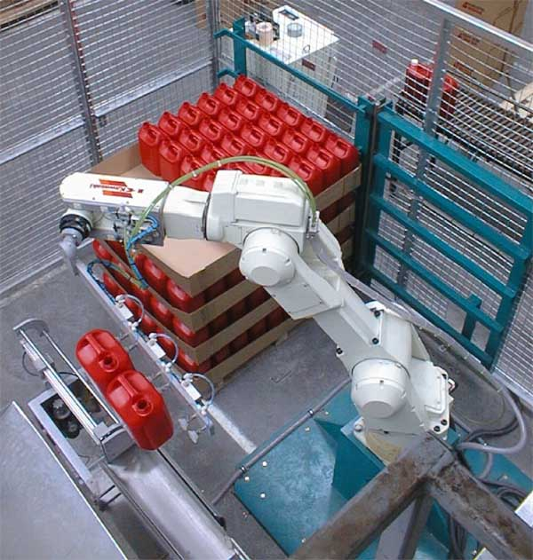 Robotic Pallet De-stacking Cell